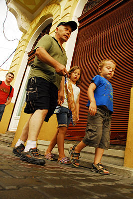 Man, Girl, and Boy; Cluj Napoca, Romania